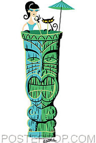 Shag Tiki Drink Sticker Image