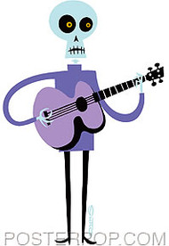 Shag Lucky Guitarist Sticker Image