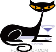Shag Cocktail Kitty Sticker Image