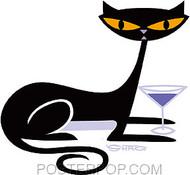 Shag Cocktail Kitty Sticker Image