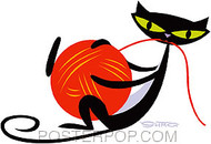 Shag Playful Kitty Sticker Image