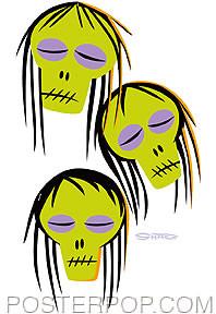 Shag Shrunken Heads Sticker Image