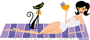 Shag Tropical Recline Sticker Image