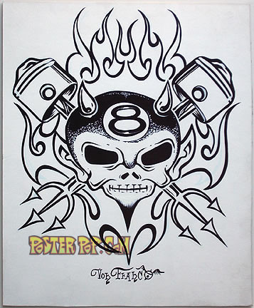Von Franco Original Blackline and Colorup Drawing - Piston Devil Image