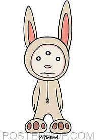 Tara McPherson Alien Bunny Sticker Image