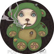 Tara McPherson Smoking Bear Sticker Image