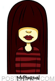 Tara McPherson Rocker Chick Sticker Image
