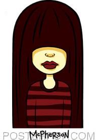 Tara McPherson Rocker Chick Sticker Image