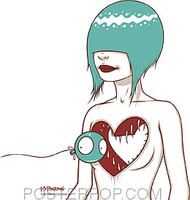 Tara McPherson Heart Teeth Sticker Image