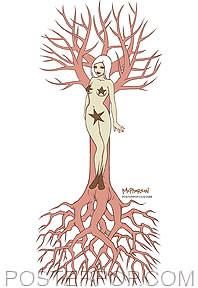 Tara McPherson Tree Lady Sticker Image