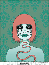 Tara McPherson Black Tears Sticker Image