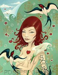 Tara McPherson Flyaway Sticker Image