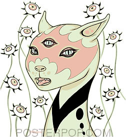 Tara McPherson Kitty Sticker Image