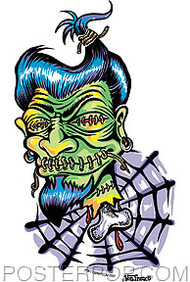 Von Franco Shrunken Head Sticker Image
