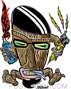 Von Franco Beatnik Tiki Sticker Image