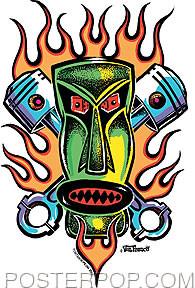 Von Franco Piston Tiki Stickers Image