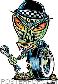 Von Franco Wrench Tiki Sticker Image