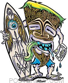 Von Franco Hodad Tiki Sticker Image