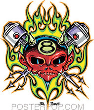 Von Franco Piston Devil Sticker Image