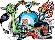Von Franco Von Helmut Sticker Image