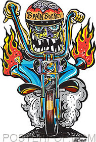 Von Franco Brain Bucket Sticker Image