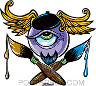 Von Franco Beatnik Eye Sticker Image