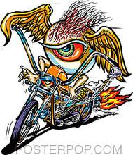 Von Franco Eye Psycho Sticker Image