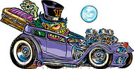 Von Franco Coffin Hauler Sticker Image