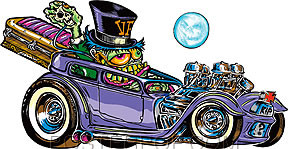 Von Franco Coffin Hauler Sticker Image