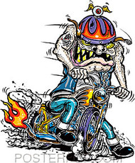 Von Franco Bobber Ace Sticker Image