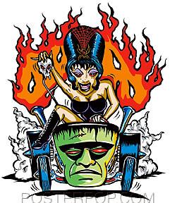 Von Franco Hotrod Spider Girl Sticker Image