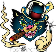 Vince Ray Black Cat Sticker Image