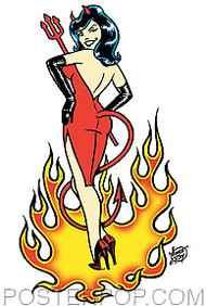 Vince Ray Devil Girl Sticker Image