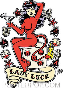 Vince Ray Lady Luck Sticker Image