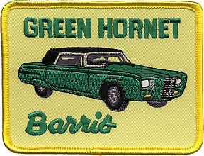 Barris Green Hornet Patch Vintage, Kato, George Barris, Vintage