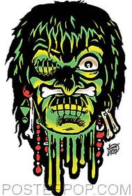 Vince Ray Voodoo Skull Sticker Image