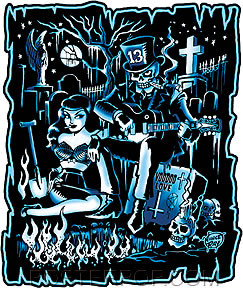 Vince Ray Dead and Buried Sticker Image