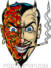 Vince Ray Horny Devil Stickers Image