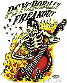 Vince Ray Psychobilly Freakout Sticker Image