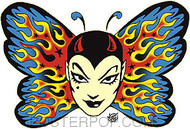 Vince Ray Tattoo Butterfly Sticker Image