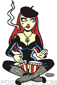 Vince Ray Beatnik Sticker Image