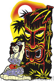Vince Ray Hula Tiki Sticker Image