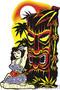 Vince Ray Hula Tiki Sticker Image