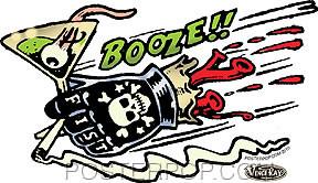 Vince Ray Booze Fist Sticker Image