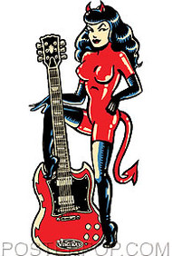 Vince Ray SG Devil Girl Sticker Image