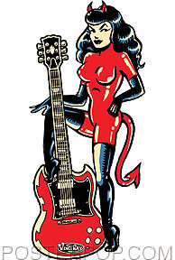 Vince Ray SG Devil Girl Sticker Image