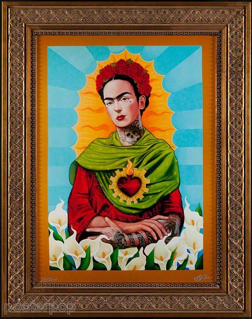 Gustavo Rimada Frida Kahlo Limited Edition Framed Canvas Print Image