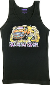 Dirty Donny Rolling Room Woman's Boy Beater Tank Top Image