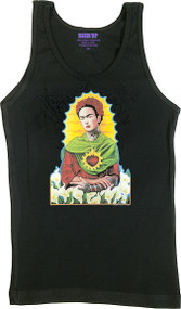 Gustavo Rimada Frida Kahlo Woman's Ribbed Boy Beater Tank Image