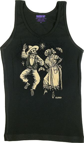 Almera Muertos Woman's Baby Doll Tee and Boy Beater Tank Image